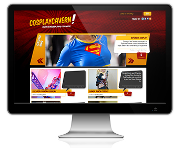 Cosplay Cavern Website Design