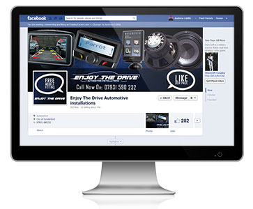 Enjoy The Drive takes advantage of our Facebook Page Management Services