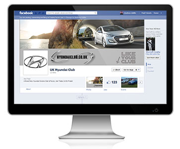 The UK Hyundai Club takes advantage of our Facebook Page Management Services