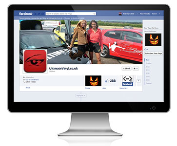 UltimateVinyl.co.uk takes advantage of our Facebook Page Management Services